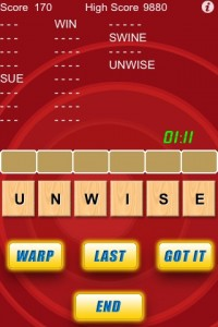 Word Warp on iPhone